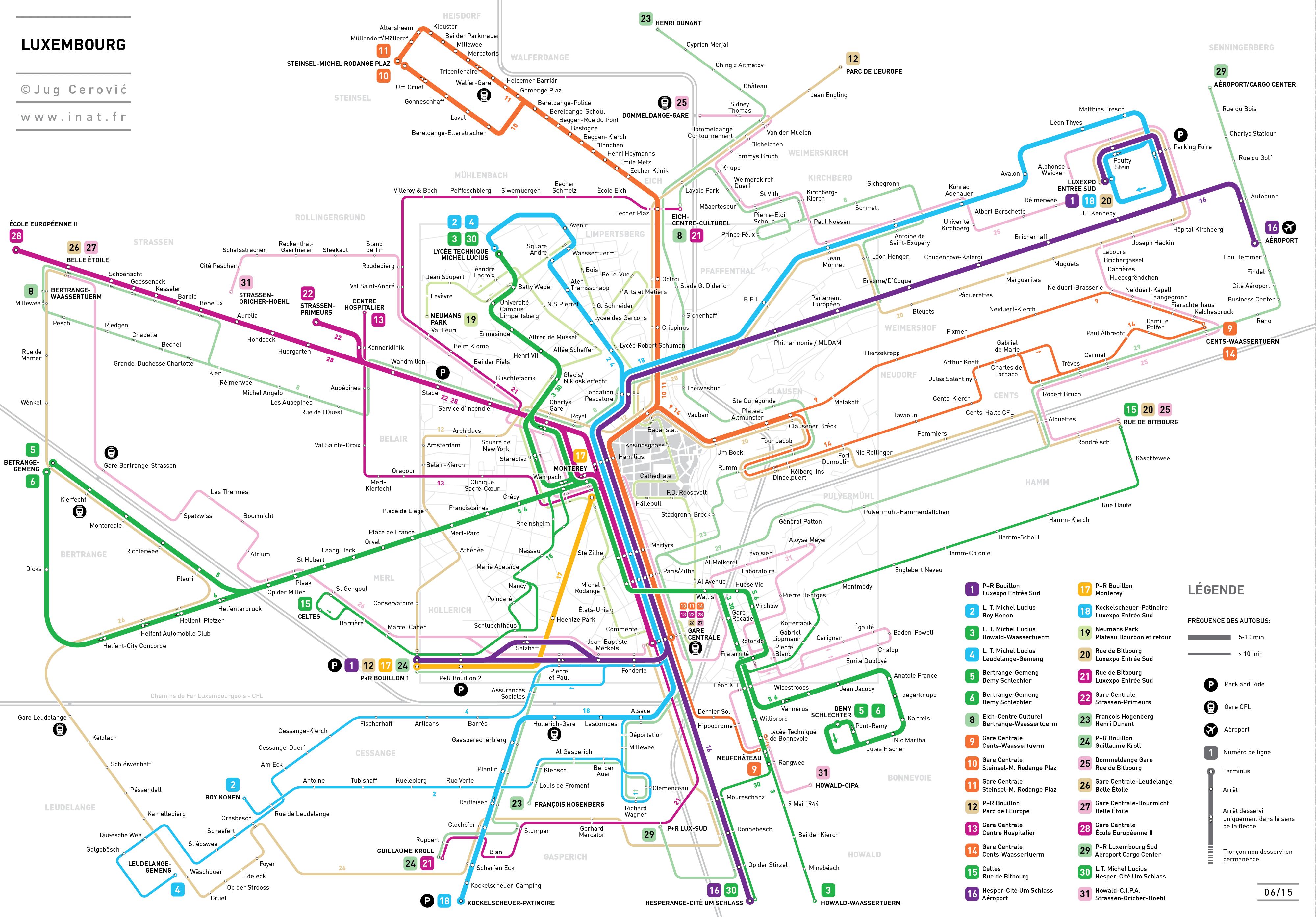 luxembourg-plan-autobus-bus-map | Le Quotidien